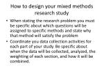 how to design your mixed methods research study1