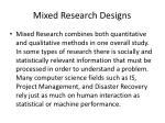 mixed research designs