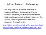mixed research references1
