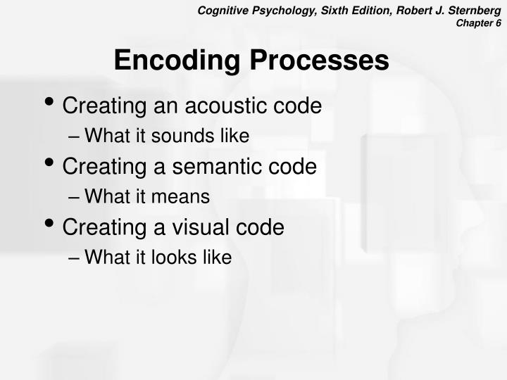 Encoding processes