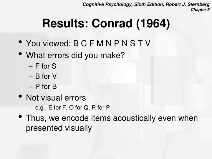 Results: Conrad (1964)