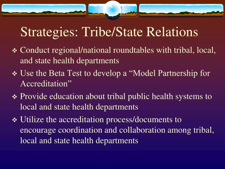 Strategies: Tribe/State Relations