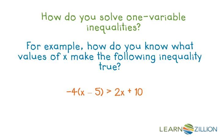 How do you solve one-variable inequalities?