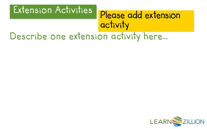Please add extension activity