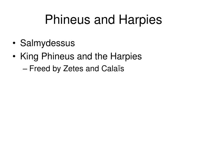 Phineus and Harpies