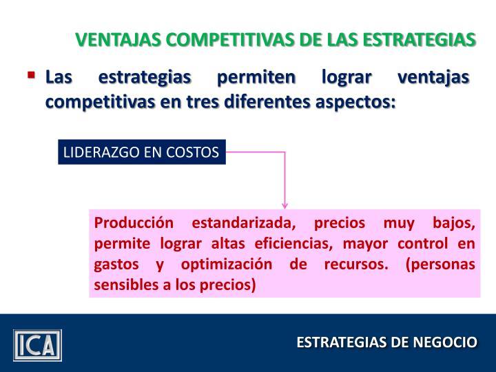 VENTAJAS COMPETITIVAS DE LAS ESTRATEGIAS