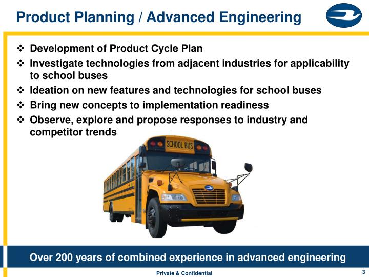 Product Planning / Advanced Engineering