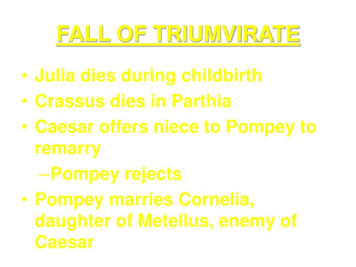 FALL OF TRIUMVIRATE