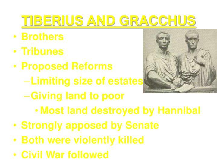 TIBERIUS AND GRACCHUS