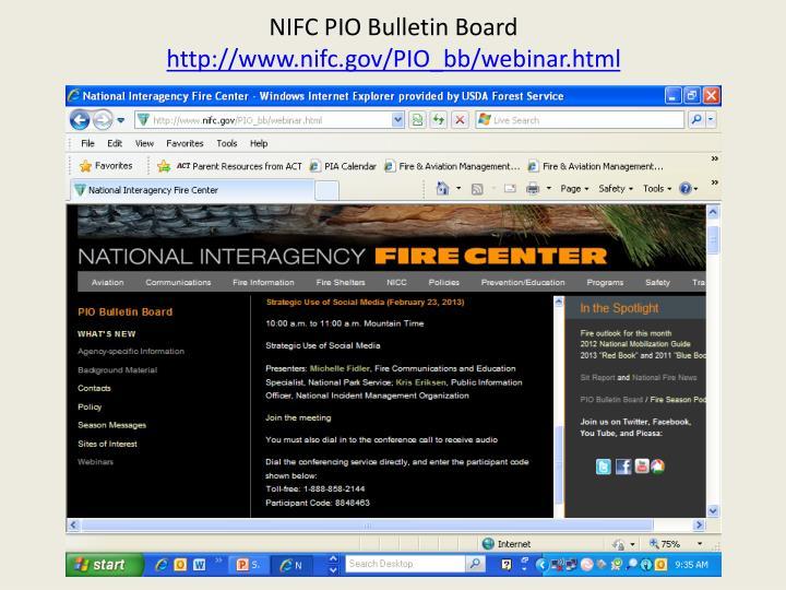 NIFC PIO Bulletin