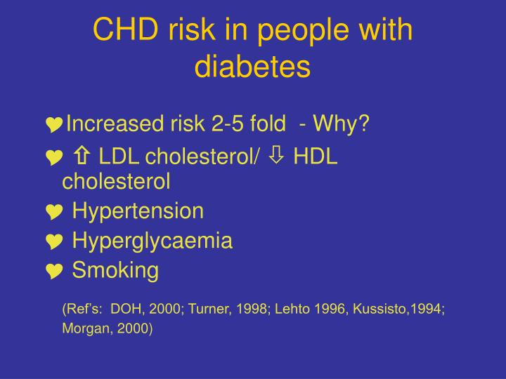 CHD risk in people with diabetes