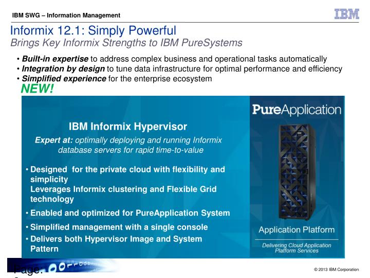 Informix 12.1: Simply Powerful