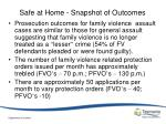 safe at home snapshot of outcomes2