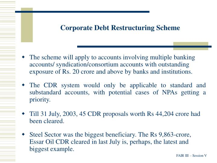 Corporate Debt Restructuring Scheme