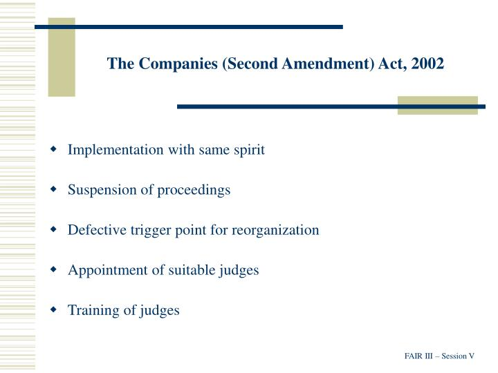 The Companies (Second Amendment) Act, 2002