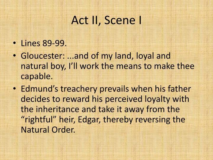 Act II, Scene I
