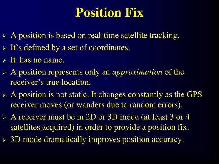 Position Fix