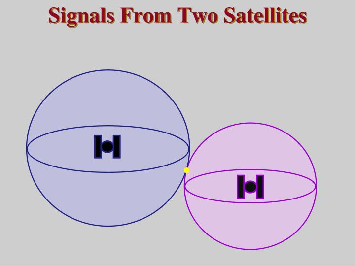 Signals From Two Satellites