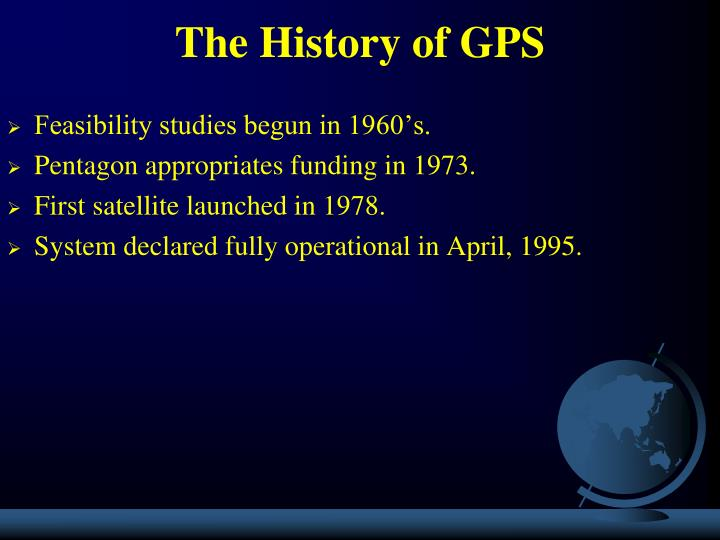 The history of gps