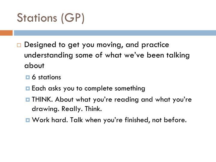 Stations (GP)