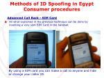 methods of id spoofing in egypt consumer procedures1