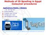 methods of id spoofing in egypt consumer procedures2