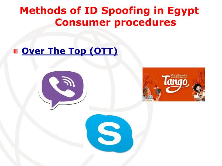 Methods of ID Spoofing in Egypt