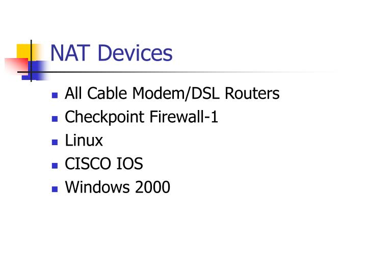 NAT Devices