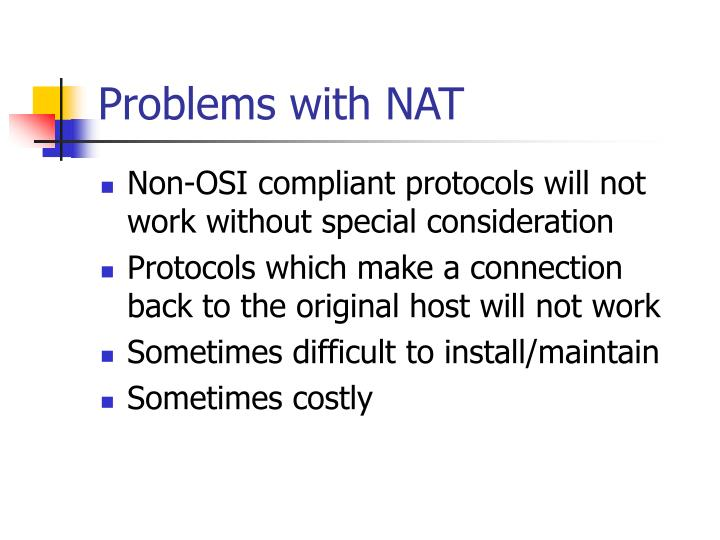 Problems with NAT
