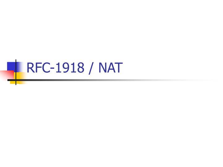 RFC-1918 / NAT