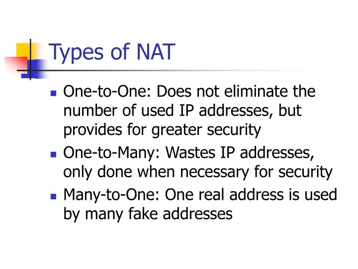 Types of NAT
