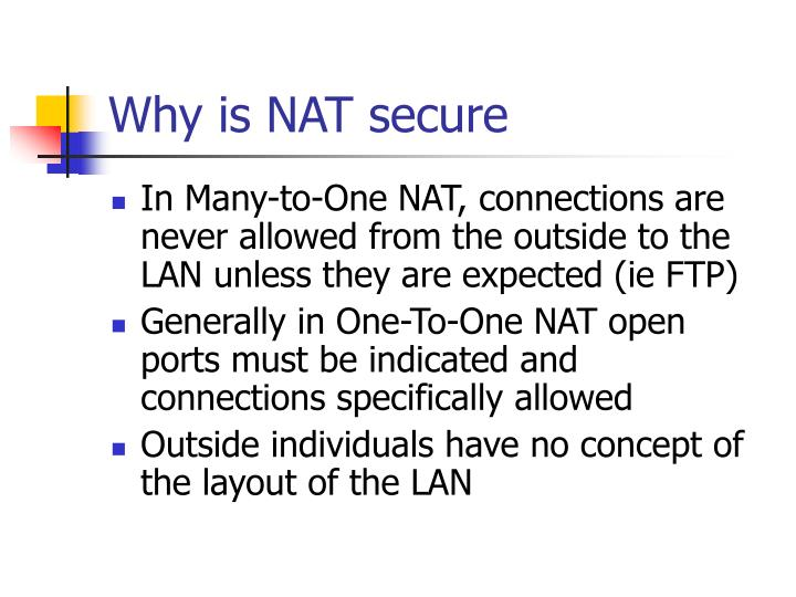 Why is NAT secure
