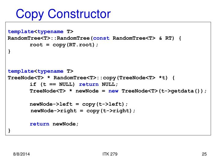 Copy Constructor