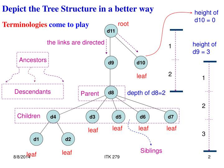 Depict the Tree Structure in a better way