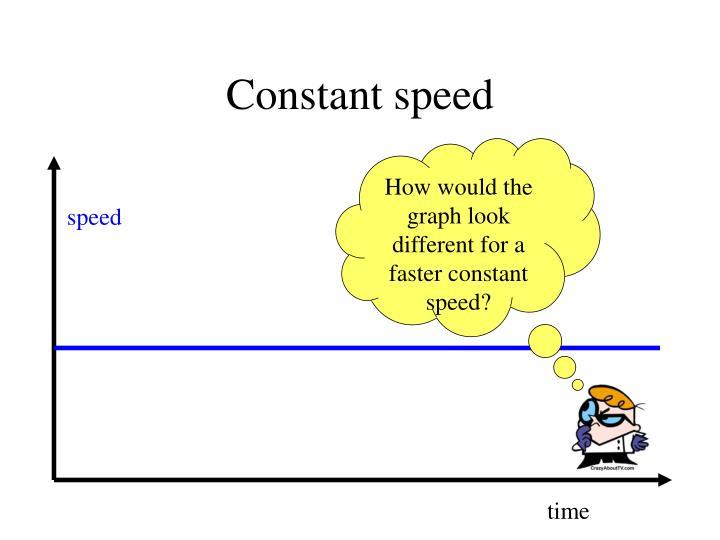 Constant speed