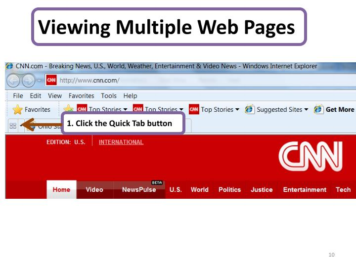 Viewing Multiple Web Pages