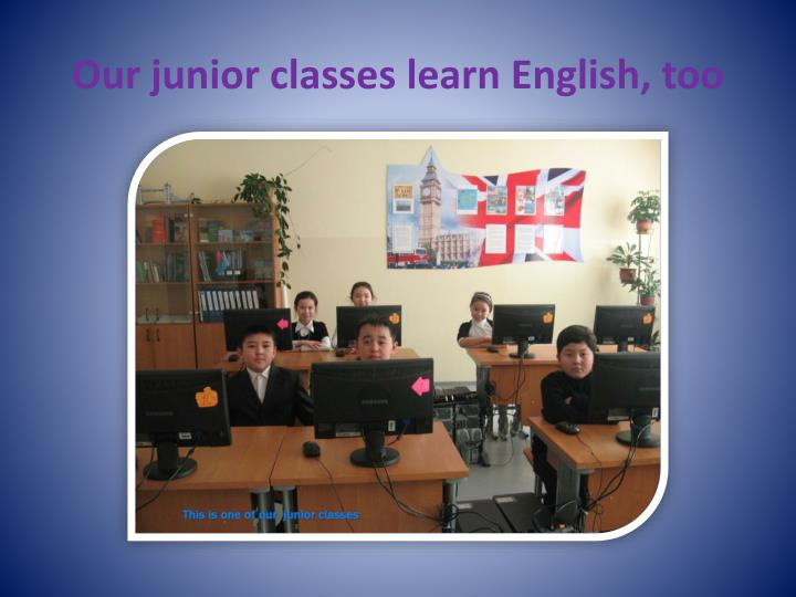 Our junior classes learn English, too