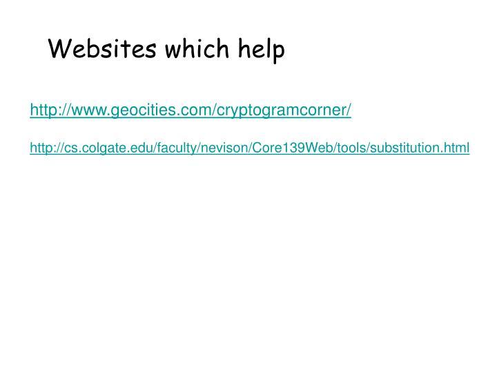 Websites which help