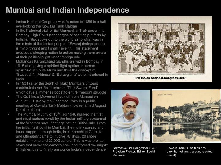 Mumbai and Indian Independence