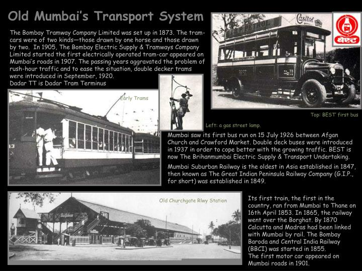 Old Mumbai's Transport System