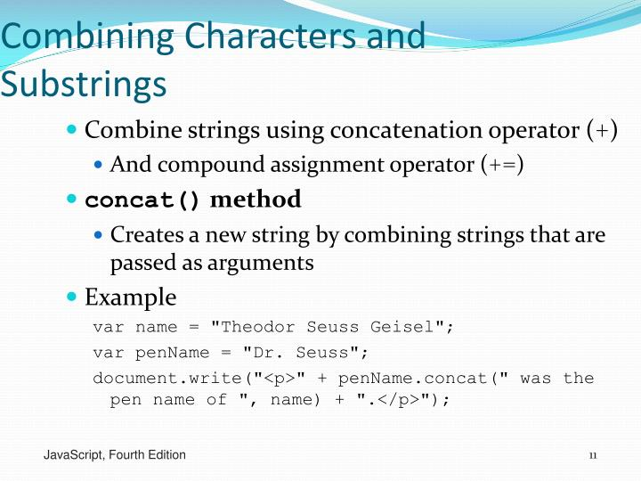 Combining Characters and Substrings