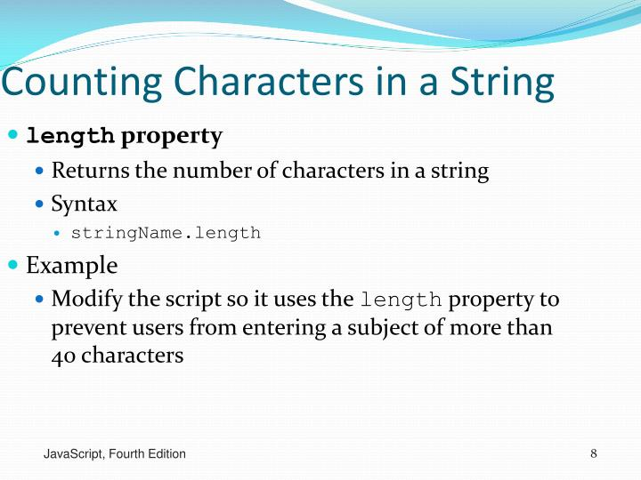 Counting Characters in a String