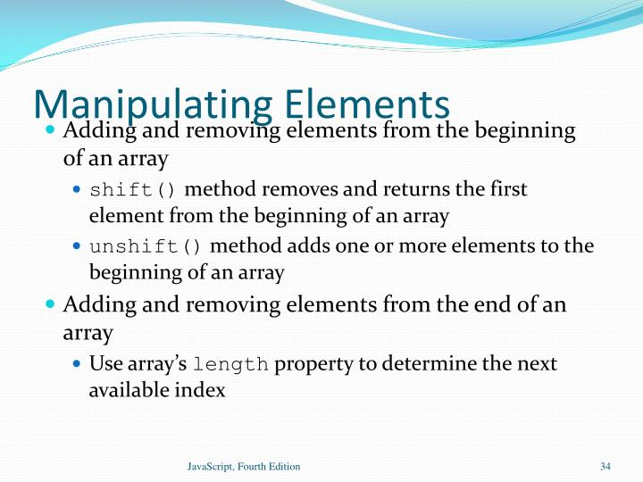 Manipulating Elements