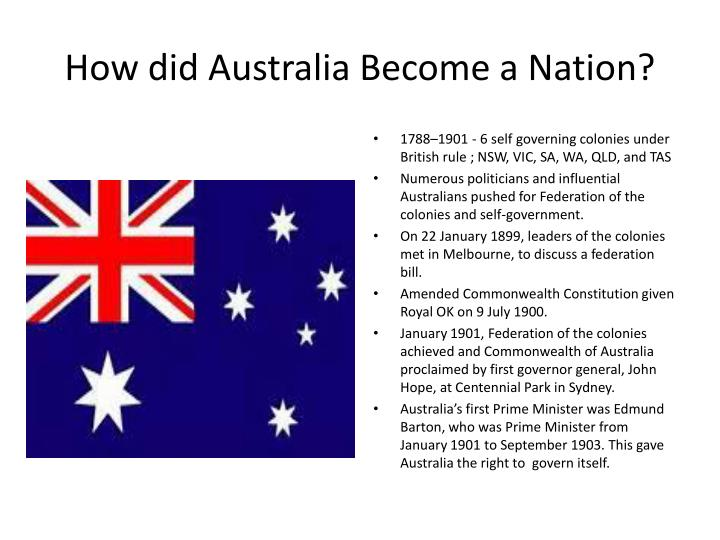How did australia become a nation
