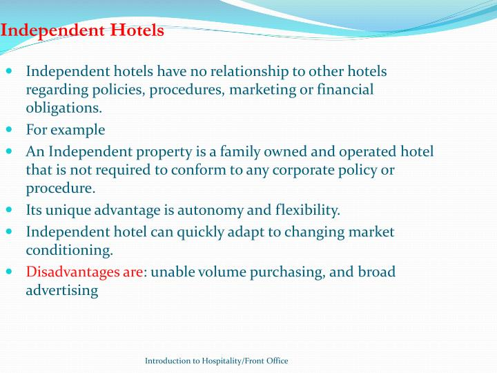 Independent Hotels