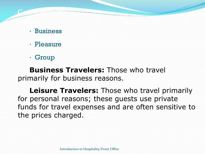 Categories of Guests