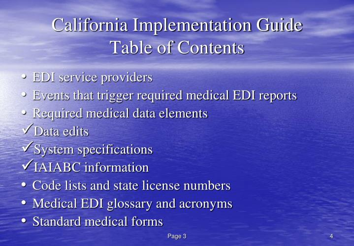 California Implementation Guide