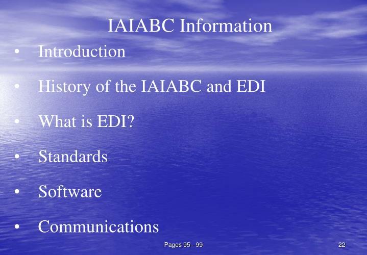 IAIABC Information