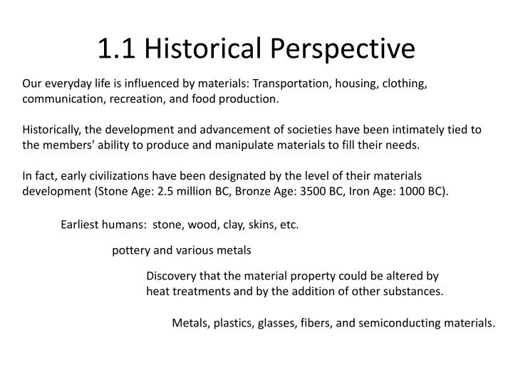 1.1 Historical Perspective