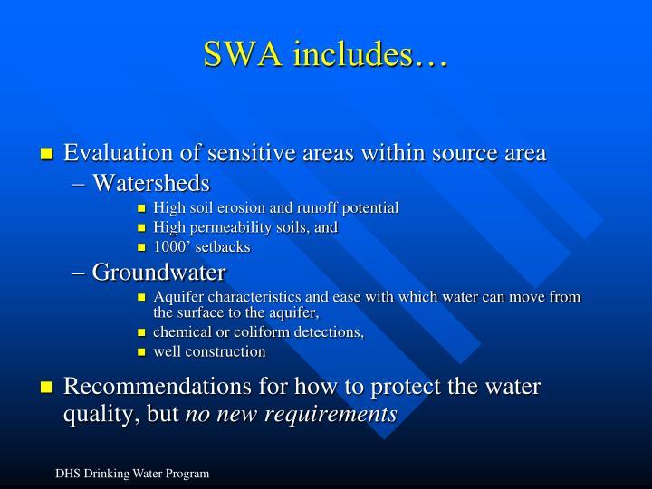 SWA includes…